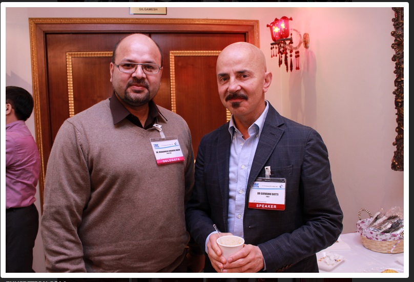 Dr M Khawar Nazir with Dr Giovanni Botti