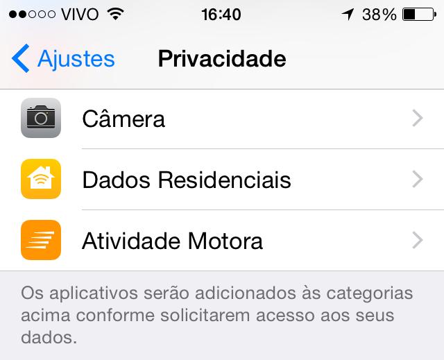 Dados residenciais iOS 8 beta 4