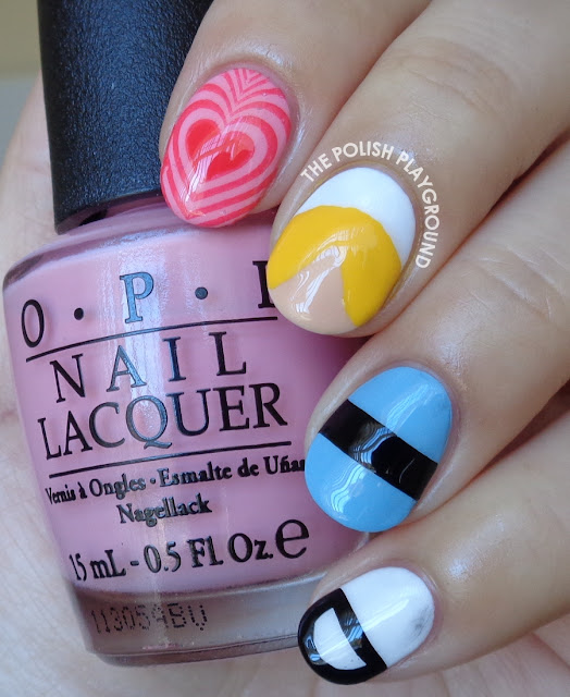 The Powerpuff Girls Bubbles Inspired Nail Art