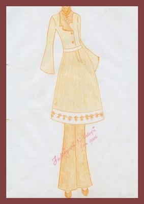 Sketsa Busana Muslim