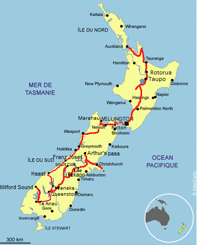 So far away... Somewhere: Itinéraire Nouvelle Zélande