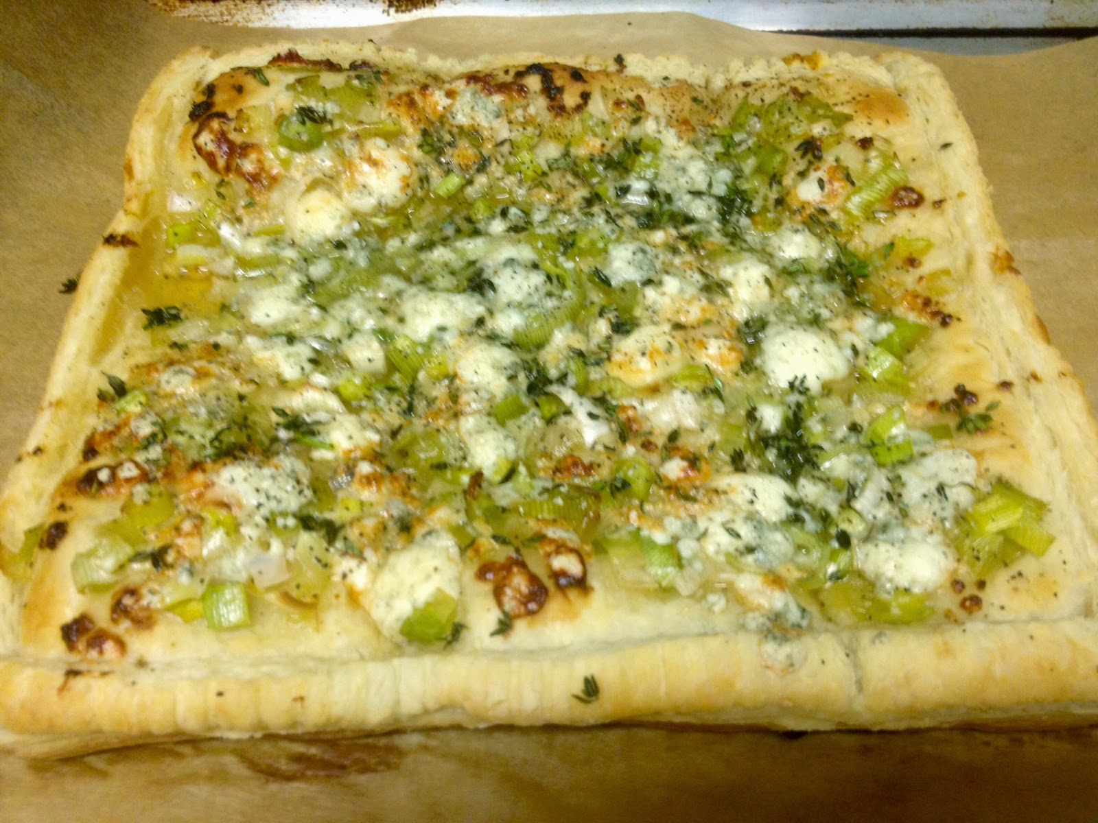 Leek, Gorgonzola and Honey Tart