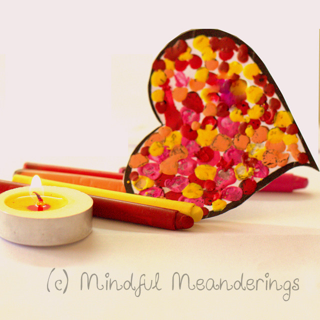 CrayonHeart 1 | 3D Melted Crayon Heart Card   Collaborative HeArt Project | Valentines Day Crafts #Age5 7