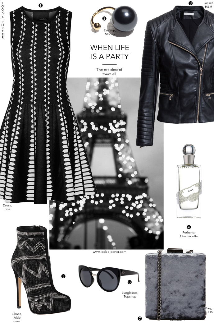 Outfit idea for going-out or a party with a rock chic edge via www.look-a-porter.com