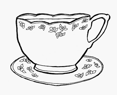 cup of tea, lisa maltby, lisa maltby illustration, drawing of tea cup, drawing of cup of tea, tea and sympathy