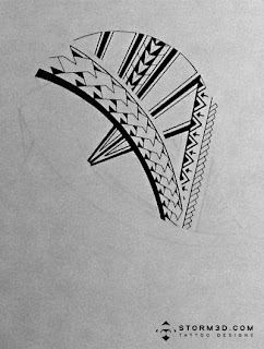 Tribal Samoan sleeve tattoo designs for sale