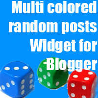 Multi colored random posts Widget for Blogger