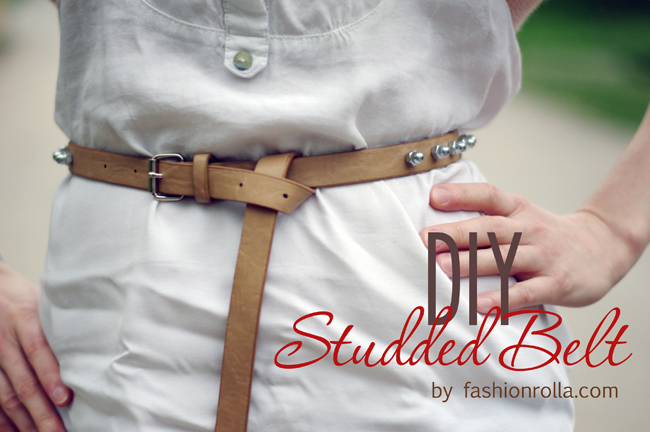 DIY studded belt by Xenia Kuhn for fashionrolla.com
