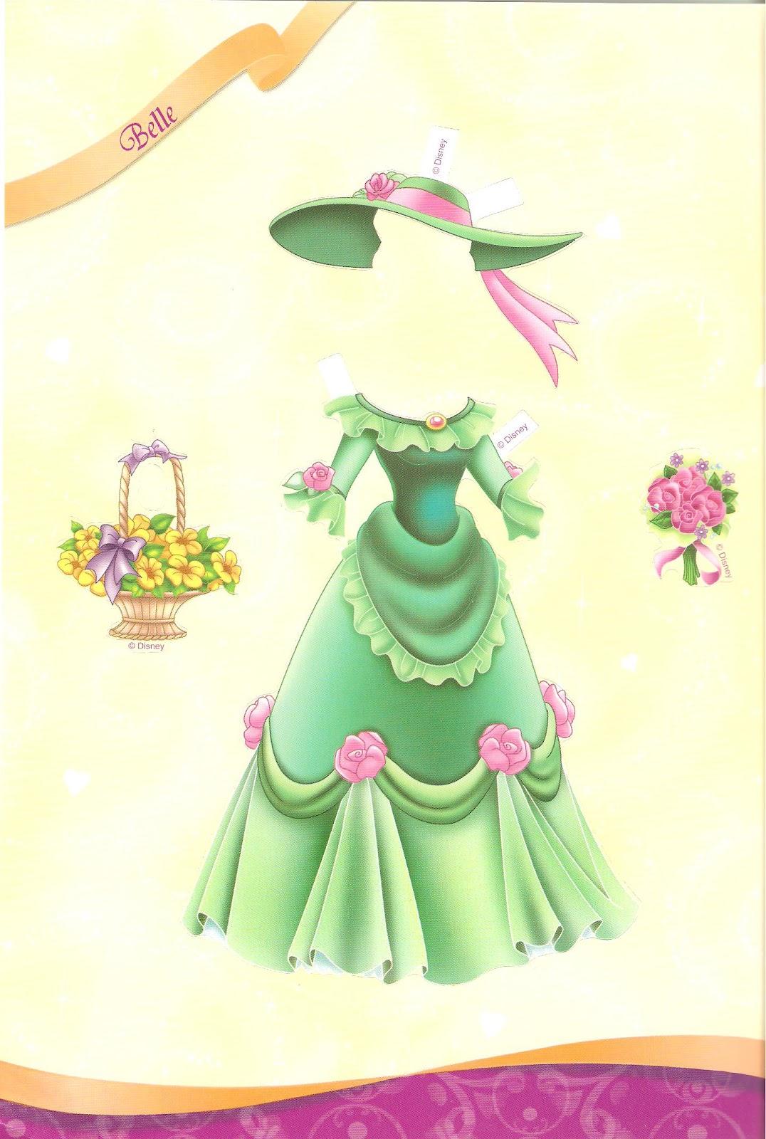 Miss Missy Paper Dolls All Dressed Up Disney Princess Part 2 Princess Paper