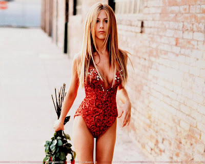 Jennifer Aniston Wallpaper in Red Bikini