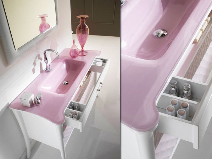 awesome salle de bain rose pale images - amazing house design