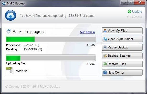how to delete mypcbackup account