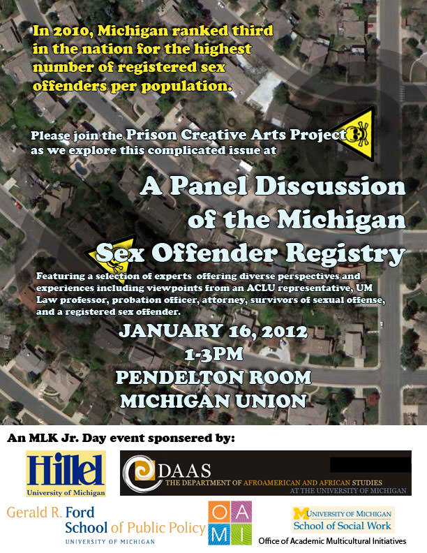 A Panel Discussion of the Michigan Sex Offender Registry - January 16th