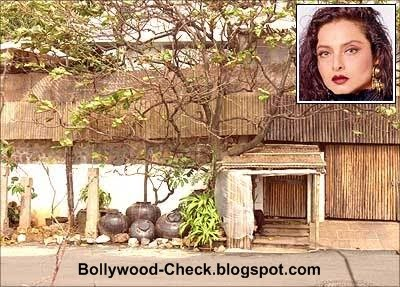 Bollywood Actress Rekhas House Her Bungalow Is Completely Covered With Bamboo And It Is Impossible To See The House From Outside