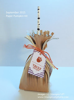 Stampin'UP!'s September 2015 Paper Pumpkin Kit broom project