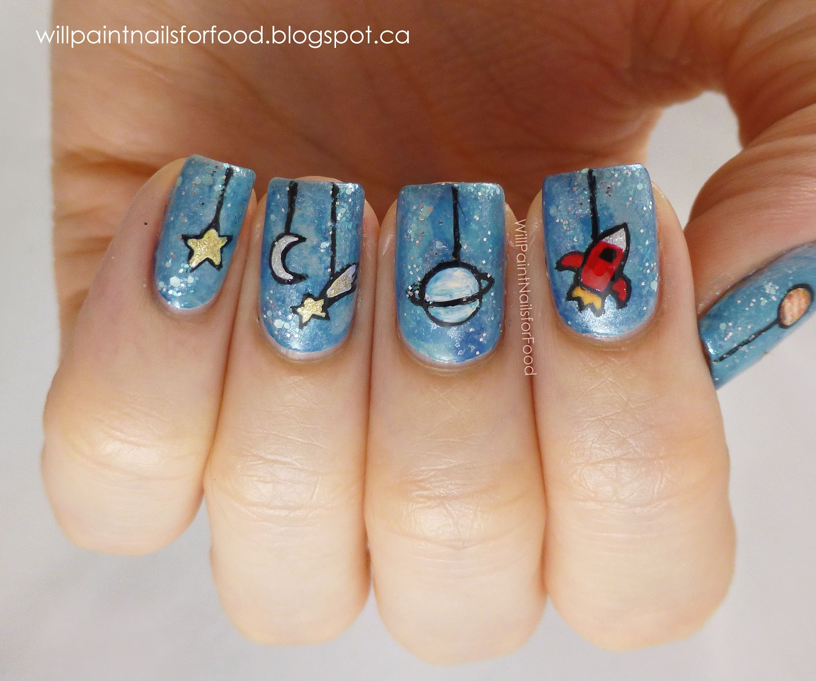 Candy nail art 2017 2018 best cars reviews for Outer space nail design