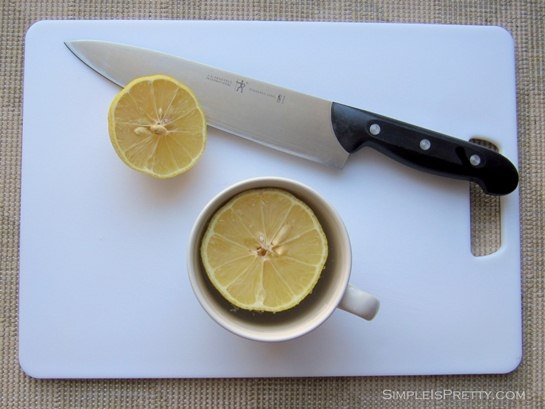 simpleispretty.com: Lemon on Cutting Board