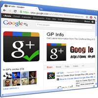 Google+: GP Info screenshot