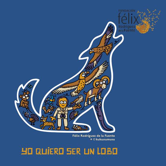 camiseta Félix Rodríguez de la Fuente por Kukuxumusu