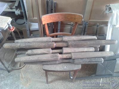 Реставрационная мастерская по дереву, деревянные песты