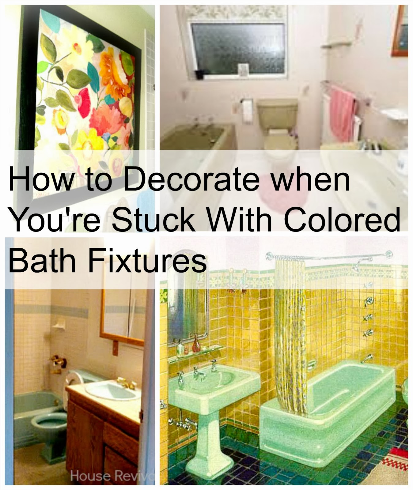 Not everybody gets to inherit a perfectly preserved period for Avocado bathroom suite ideas