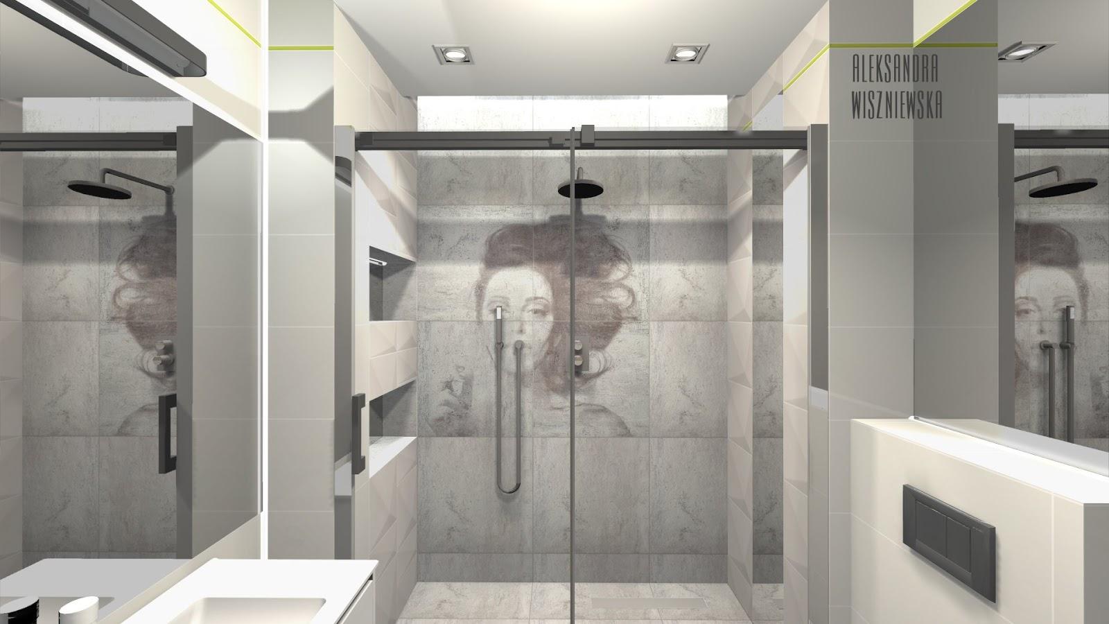 Projekty łazienek Wizualizacje Tubądzin Zień Tempelhof Tegel Z