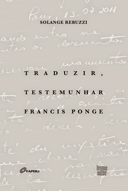 Traduzir, testemunhar Francis Ponge
