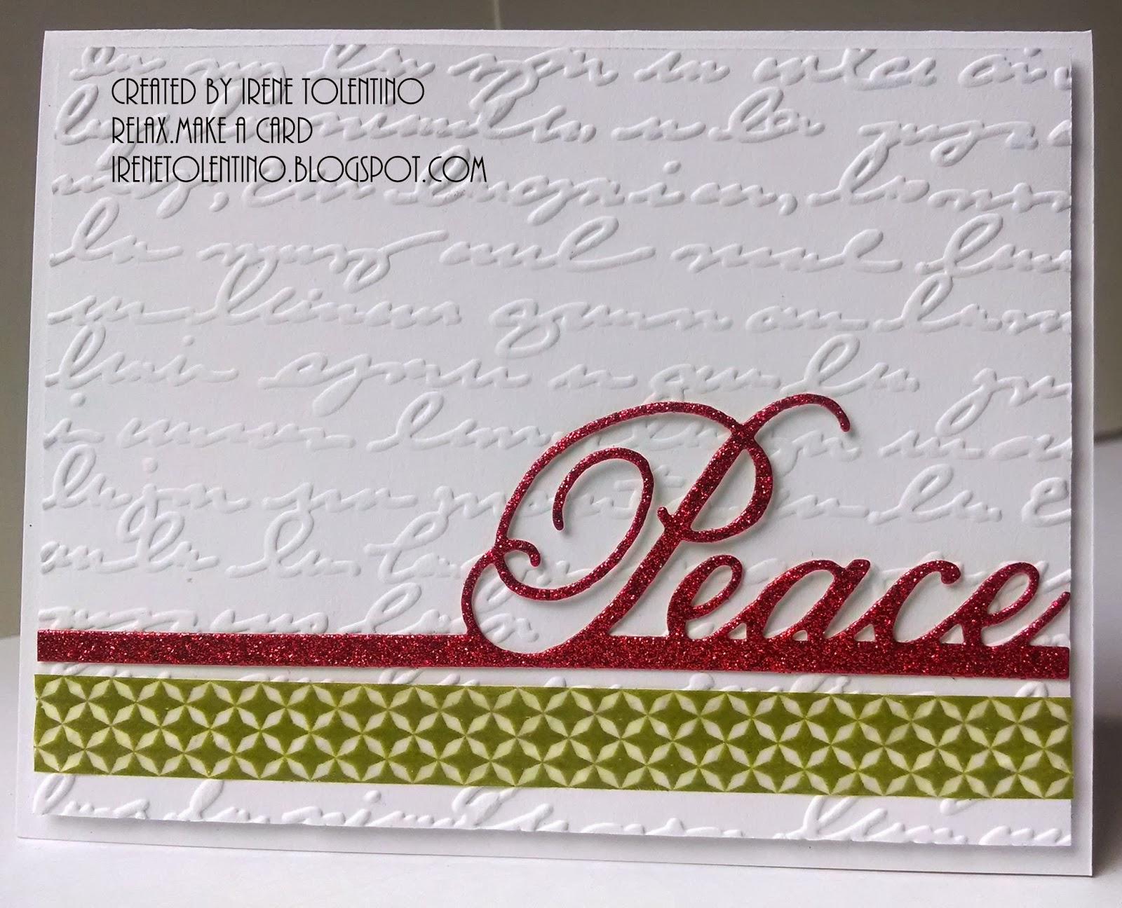 Relax Make A Card Holiday Cards Peace And Joy Ii