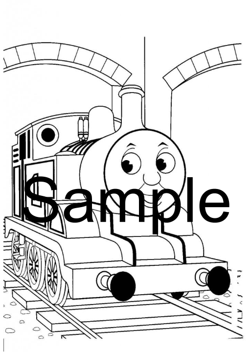image Sample Free Printable Train Colouring Pages - Thomas the Tank engine