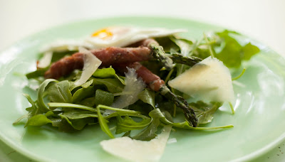 Prosciutto Wrapped Asparagus Salad with Super Gouda