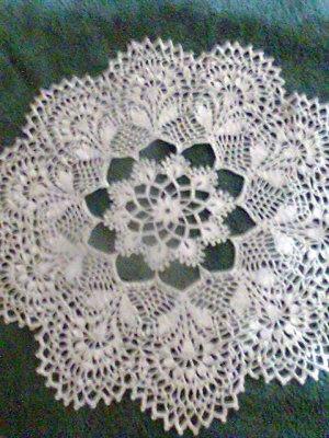 Carpetas en crochet redondas