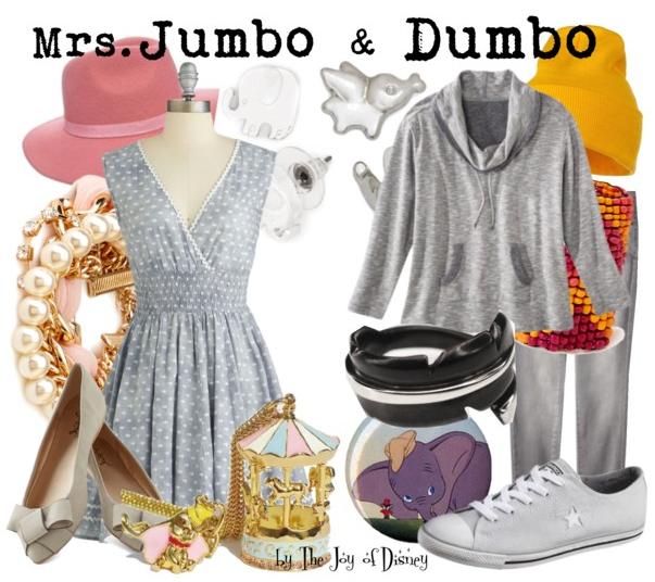 Mrs. Jumbo and Dumbo, Disney Outfits