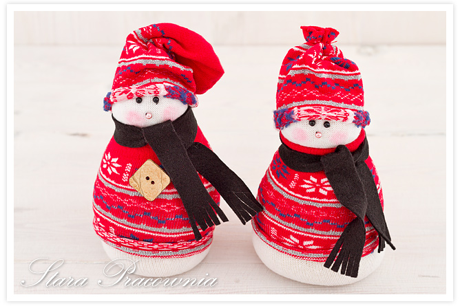 bałwanki ze skarpetek, bałanki ze skerpet, sock snowman, ozdoby świąteczne