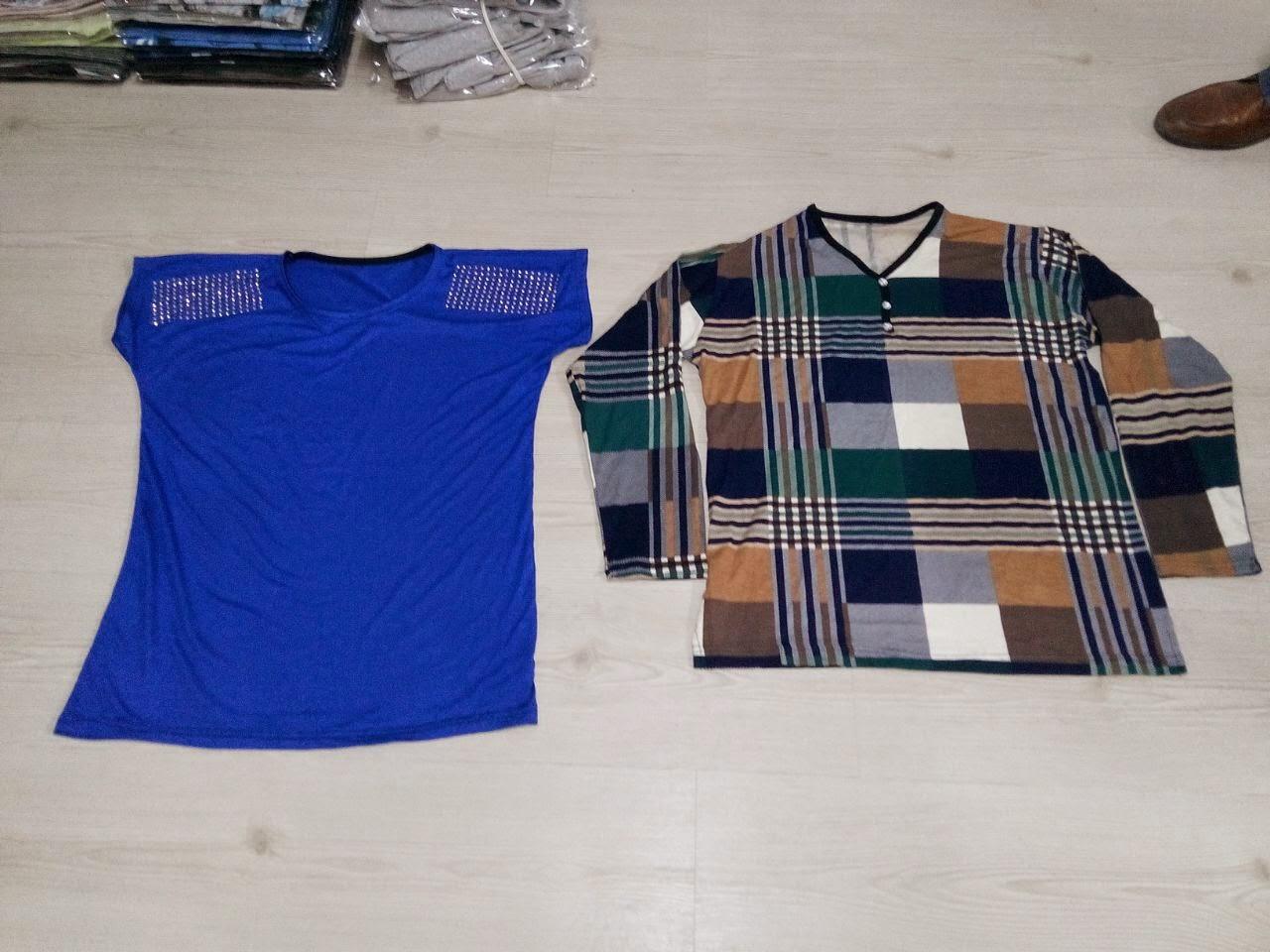 kışlık v yaka bluz t-shirt üretimi