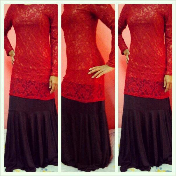 Untuk dijual! baju kurung lace scha alyahya yang gojess!