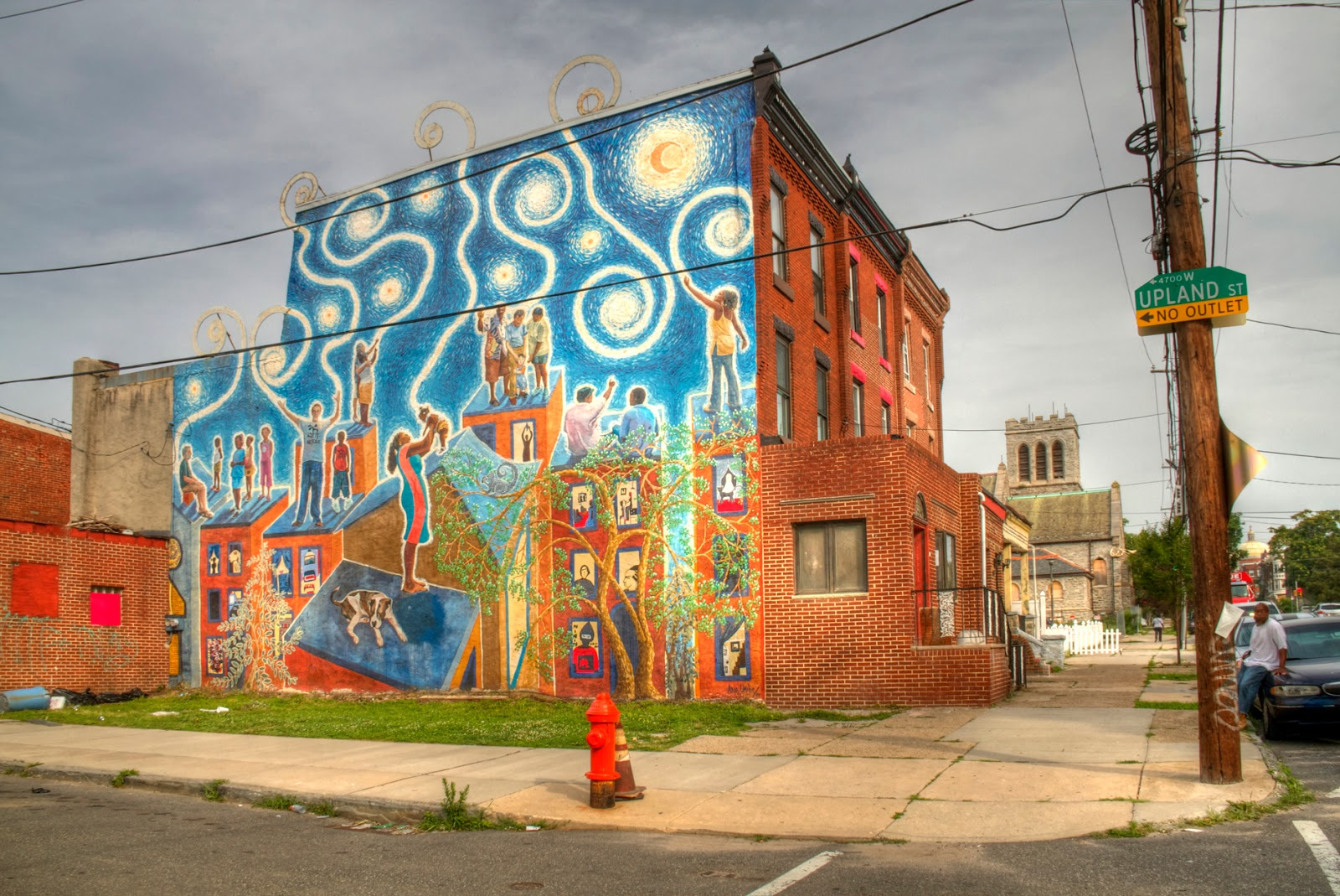josh friedman photography beautiful walls in the inner city 2 magic wall mural artist ana uribe 47th st and upland st near woodland ave