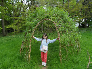 Lowther Castle and Gardens May 2013 - Willow arch.