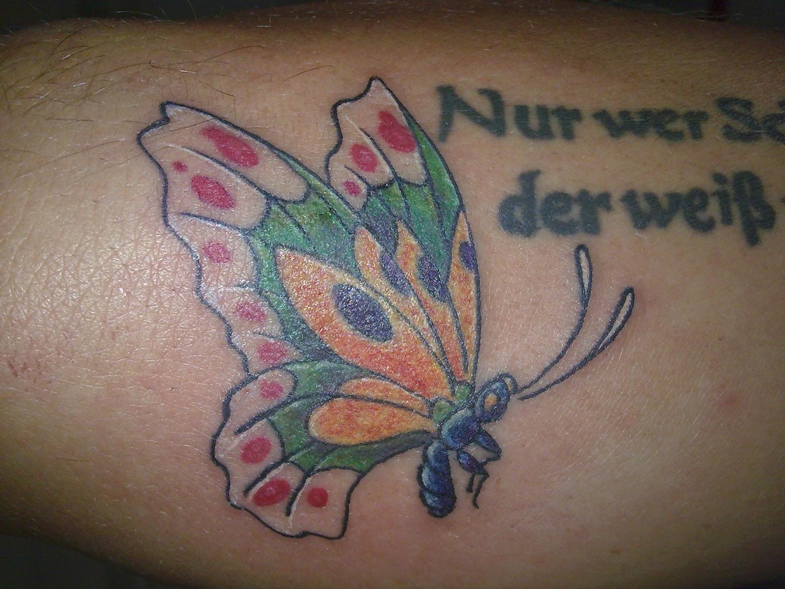 Schmetterlinge lachen...: Kann Liebe unter die Haut gehen?