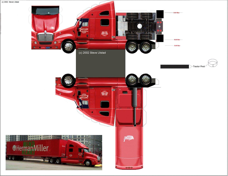 Машинки грузовые из бумаги своими руками 100
