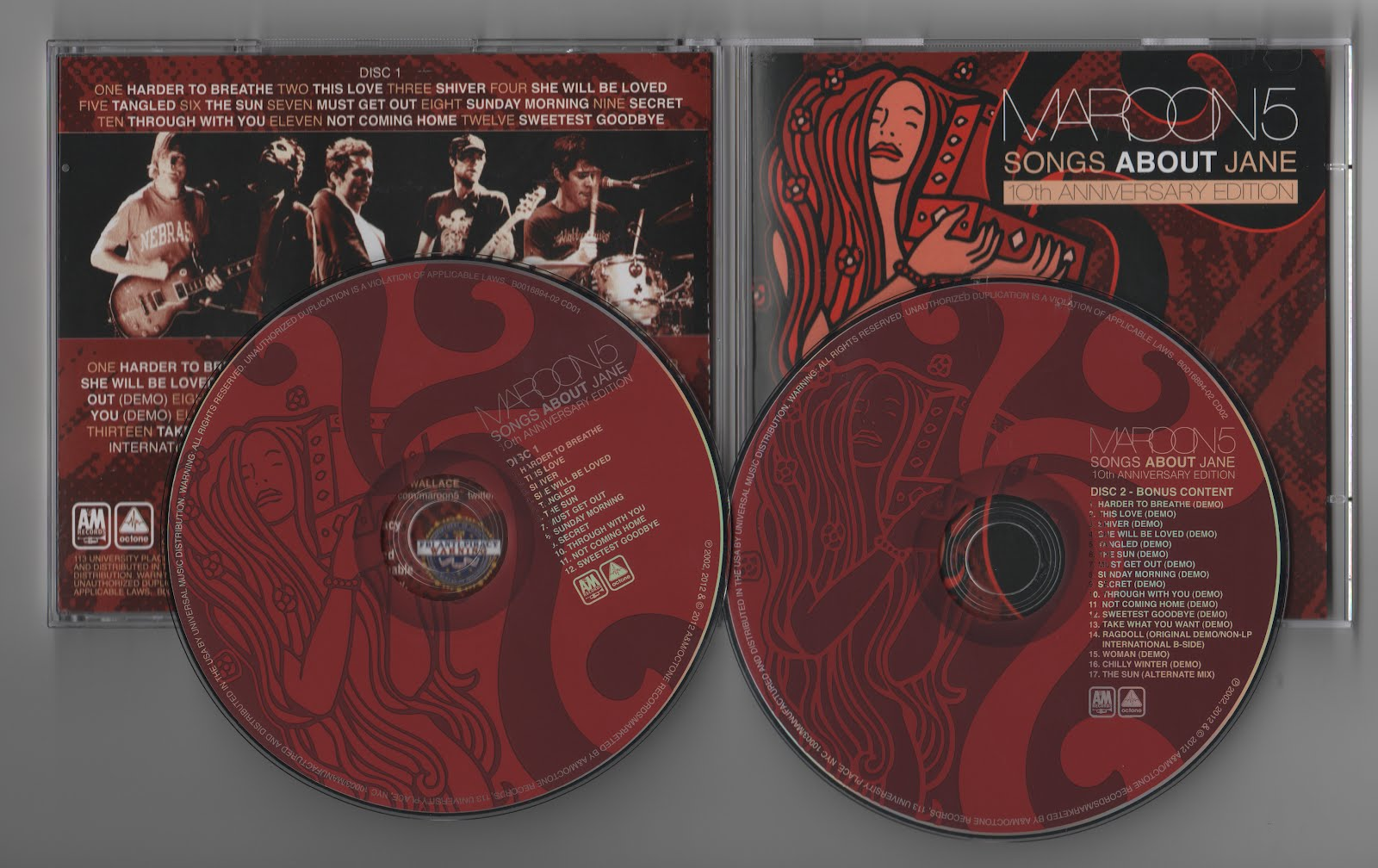 album songs about jane maroon 5