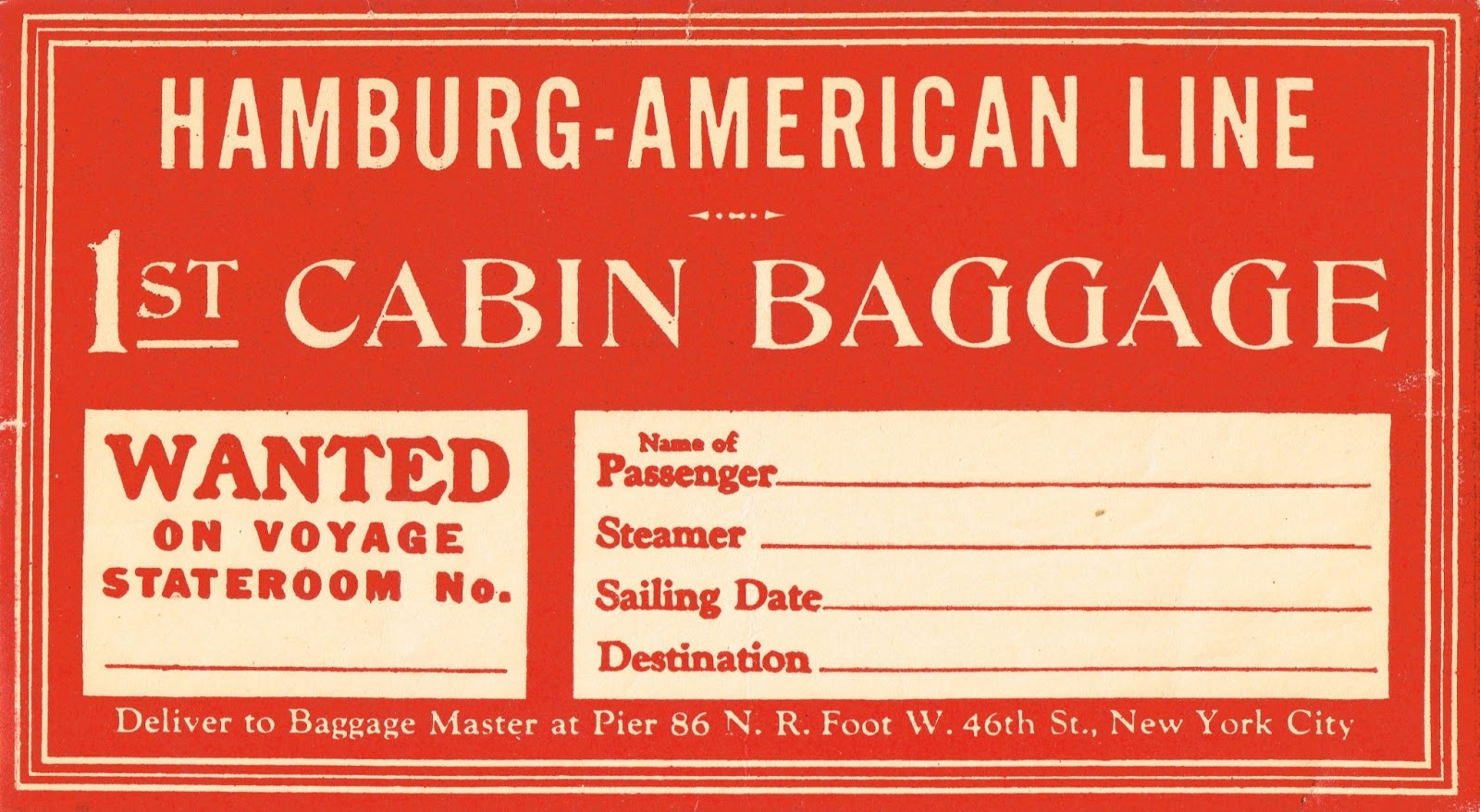 photograph relating to Free Printable Luggage Tags named Antique Graphics Wednesday - Basic Baggage Tags Knick of