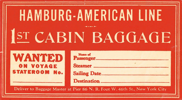 luggage tag, vintage graphic