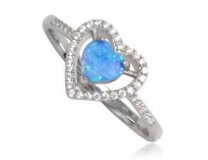 inel din argint cu opal