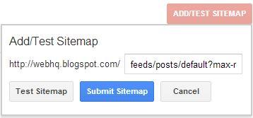 webmaster add a sitemap