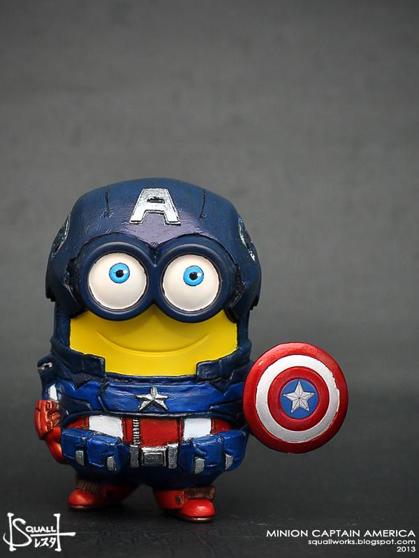 Minion Captain America Amigurumi : squallworks: Minion Captain America