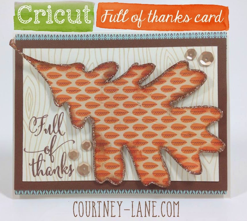 Full of Thanks card