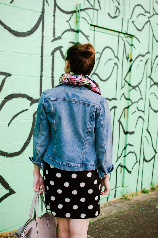 Here & Now: floral + polka dots