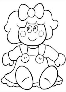desenho boneca colorir