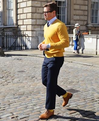 Pánske trendy 2012 / farebné ponožky