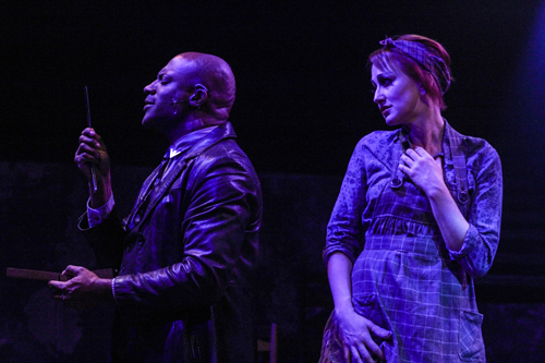 Kevin Harry and Deborah Bowman in Sweeney Todd | Actor's Express | Photo by BreeAnne Clowdus